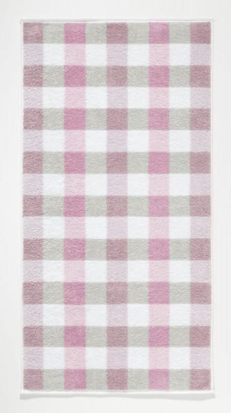 Handtuch Karo rose (BL 50x100 cm)