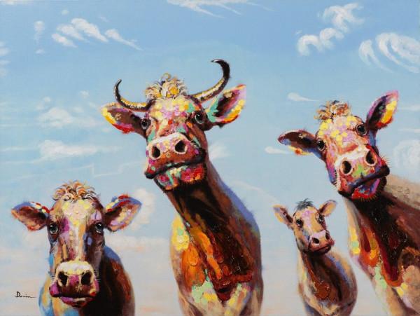 funny cows (LBH 90x120x5 cm)