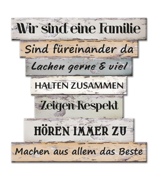 Bild FAMILIENREGELN II Holz bunt Cepewa 43122 (BHT 30x32x1 cm)