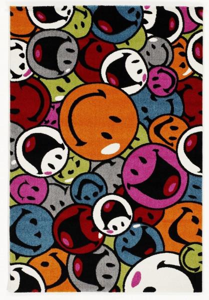 Teppich HAPPINESS/Smile multi Polypropylen bunt OCI - Die Teppichmarke HA008-598-0815 (LB 80x150 cm)