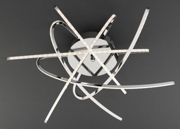 Deckenleuchte Samurai Metall grau HPI 180003911 (BHT 63,5x14x63,5 cm)