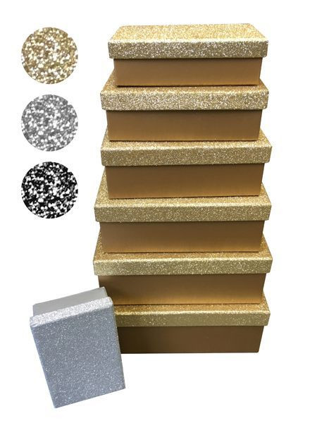 Boxenset GLAM gold Pappe gold Cepewa 42858G (BHT 24x9,5x15,5 cm)