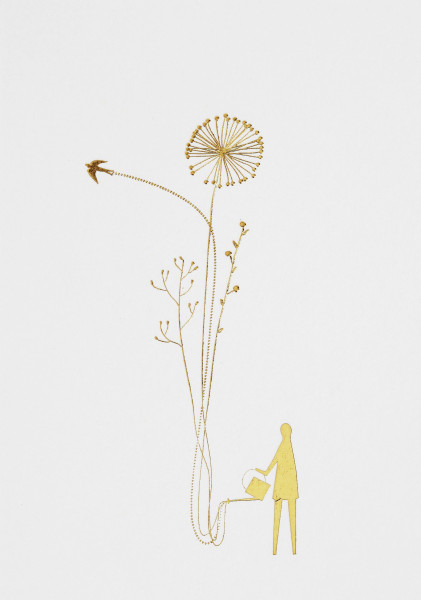 Karte Wunderland Blumen