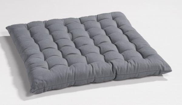 Sitzkissen BOBBY grau Baumwolle grau HPI 160007332 (BHT 40x3x40 cm)