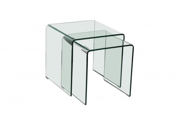 Beistelltisch 2-teilig Bridget Glas BHP BHT 42x42x42 cm BEST B154076