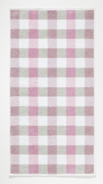 BL 50x100 cm Handtuch Karo rose Baumwolle rosa CAWÖ 851-20