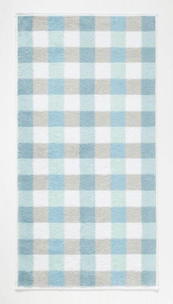 Duschtuch Karo mint (BL 70x140 cm)
