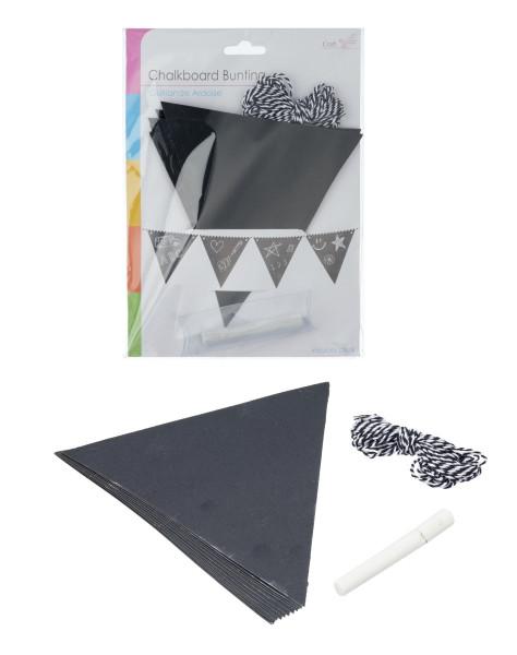 Girlande TAFEL Papier schwarz Cepewa 63209 (BH 18x23 cm)