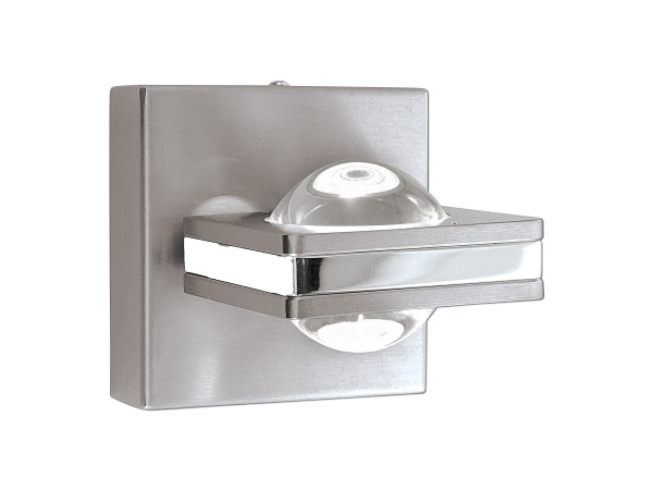 Wandleuchte Metall grau Paul Neuhaus 671352 (BHT 11x15x11 cm)