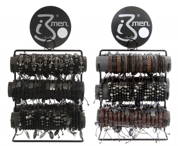 Armband MEN DELUXE Kunstleder schwarz Cepewa 80560