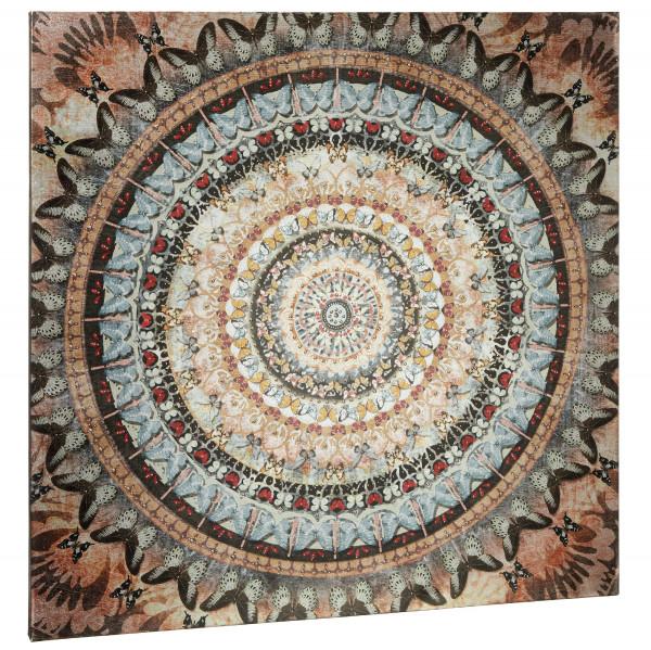 Bild MANDALA PAILLETTEN Papier bunt Cepewa 51722 (BH 90x90 cm)