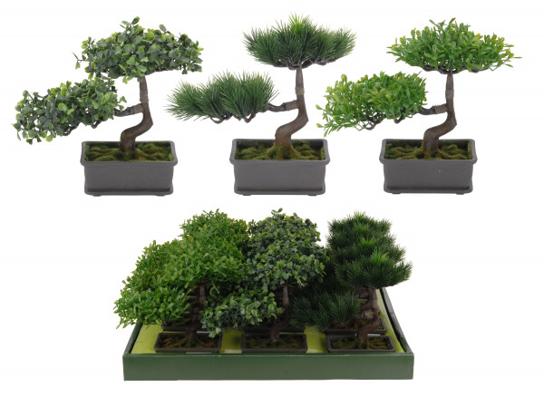 Kunstpflanze BONSAI (BHT 24x22x13 cm)