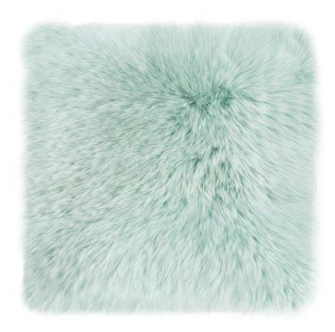 Schaffellkissen grün (BL 40x40 cm)