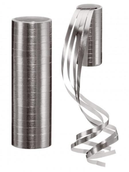 Luftschlange METALLIC silber Papier grau Cepewa 14641001